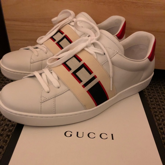 d14cae58714 Gucci Shoes | New Stripe Leather Sneaker White | Poshmark